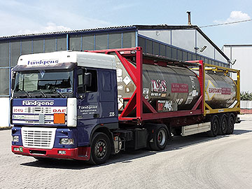 Tankcontainertransporte