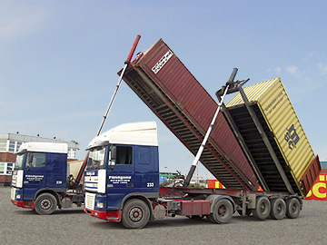 Kippcontainertransporte